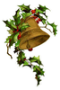 Free Clipart Christmas Bells With Holly Image