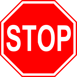 Stop Sign 2 clip art - vector clip art online, royalty free ...