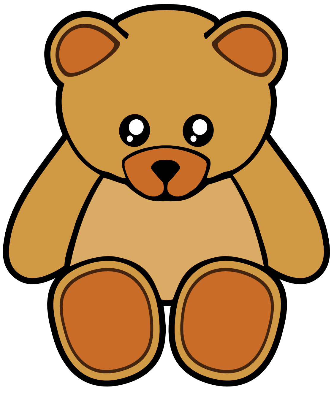 Brown Cute Teddy Bear | Free Images at Clker.com - vector ...