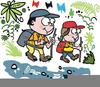Boy Scout Hiking Clipart Image