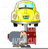Green Volkswagon Beetle Car Free Clipart Image