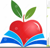 Books And Apple Clipart Image