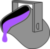 Purple  Bucket Clip Art