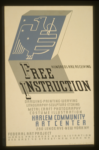 Hundreds Are Receiving Free Instruction Drawing, Painting, Weaving, Lithography, Sculpture, Etching, Metal Craft, Photography, Costume Illustration [at] Harlem Community Art Center. Image