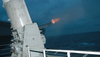 Close In Weapon System (ciws) Is Fired From The Flight Deck During A Firing Exercise Image