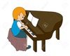 Lady Playing Piano Clipart Image