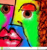 Face Painting Clipart Image
