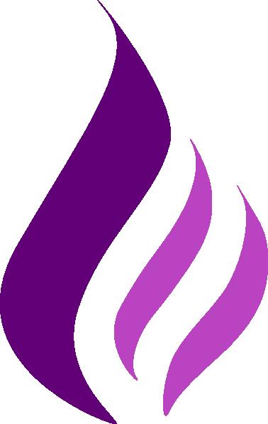 Purple Fire Fla... J Logo Fire