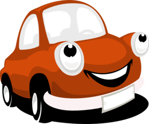 Car With Eyes Clip Art