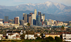Los Angeles Skyline Telephoto Image