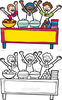 Clipart Of Christmas Buffet Image