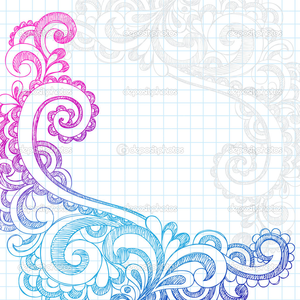 Depositphotos Paisley Sketchy Doodle Page Border Vector Illustration Image