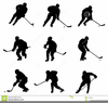 Hockey Clipart Black And White Image