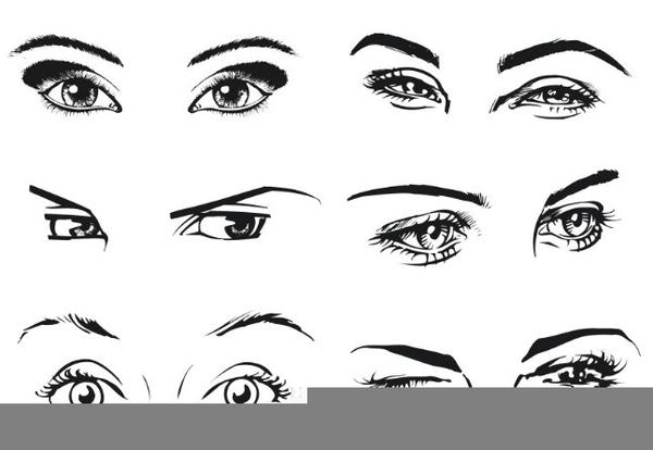 Woman Eyes Sketch Free Images At Clker Com Vector Clip Art