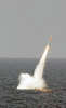 Uss Florida Launches A Tomahawk Cruise Missile During Giant Shadow In The Waters Off The Coast Of The Bahamas Image