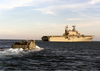 Landing Craft Utility One Six Five Four Returns To The Amphibious Assault Ship Uss Saipan. Image
