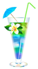 Woman Drinking Cocktail Clipart Image