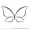 Black Butterfly Clipart Image