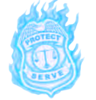 Blue Flame Badge Image