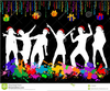 Christmas Disco Clipart Image