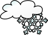 Winter Cloud Snow Flake Clip Art