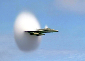 F/a-18 Hornet Breaks The Sound Barrier Image