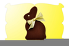 Easter Bunny Bowtie Clipart Image