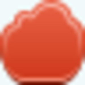Free Red Cloud Empty Button Image