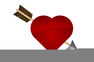 Free Clipart Heart With Arrow Image