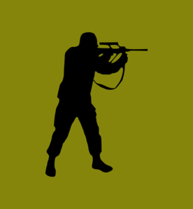 Rifle Hunter Clip Art