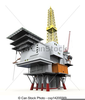 Clipart Of Oil Rig Image