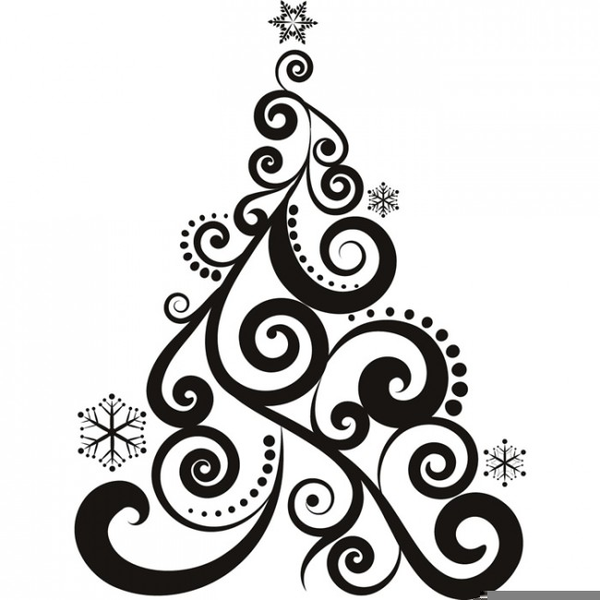 Black And White Christmas Clipart.Black And White Christmas Tree Clipart Free Images At