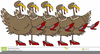 Animated Dancing Turkey Clipart Image