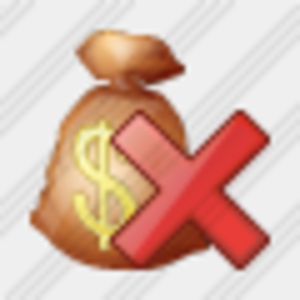 Icon Money Bag Delete Image