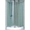 Shower Enclosure Mm Tempered Glass Aluminum Frame Brass Chrome Hinges Acrylic Tray New Image