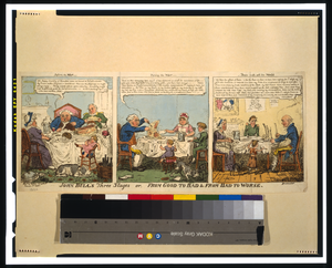John Bull S Three Stages Or, From Good To Bad & From Bad To Worse  / G. Cruikshank Fect. Image