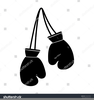 Black Boxing Gloves Clipart Image