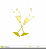Champagne Glasses Toasting Clipart Image