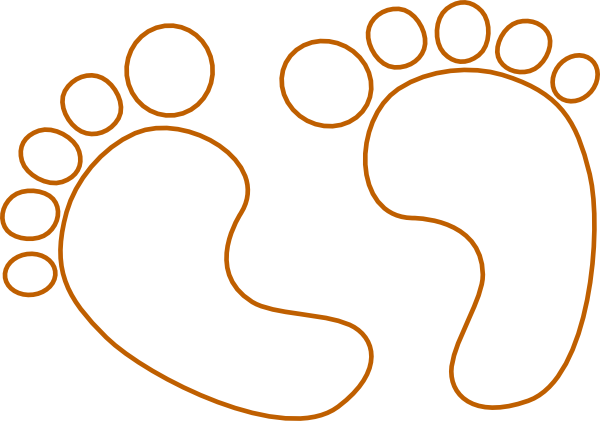 outline of a footprint