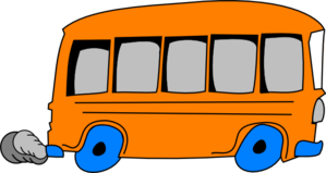Orange School Bus Clip Art