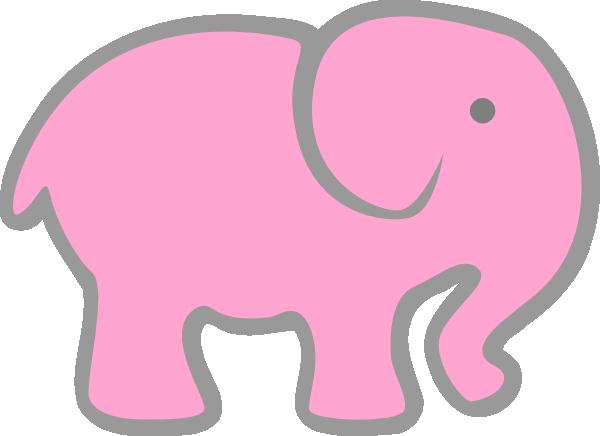 clip art pink elephant - photo #7