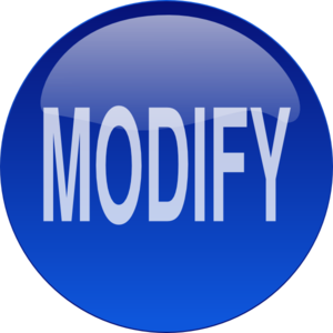 Blue Modify Button Clip Art