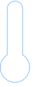 Thermometer Blue Outline Clip Art