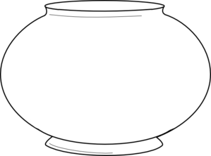 Blank fishbowl 2 clip art at vector clip art for Fish bowl coloring pages