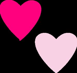 pink double hearts clip art at clker com vector clip art online rh clker com small pink heart clip art pink heart border clip art