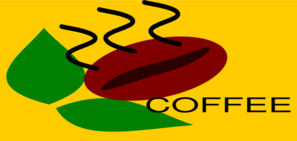 Coffee With Bean Leaf Clip Art