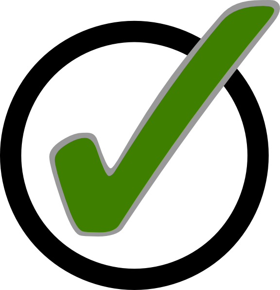 Image result for green check mark and circle
