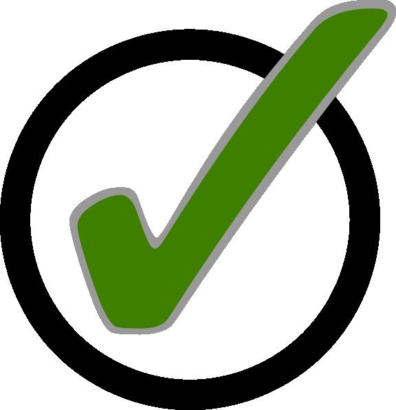 Green Check Mark In Circle Clip Art At Clker Vector Clip Art