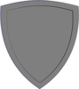 Gray Shield Clip Art