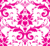Hot Pink Damask Clip Art